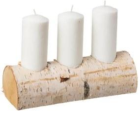 ČistéDrevo Svietnik z brezy na tri sviečky
