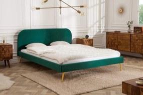 Manželská posteľ Lena 140 x 200 cm - zelený zamat