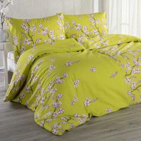 Krepové posteľné obliečky SAKURA štandardná dĺžka