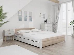 Posteľ IKAROS 140 x 200 cm, biela Rošt: S latkovým roštom, Matrac: Matrac DELUXE 15 cm