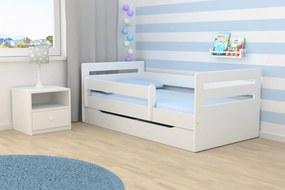 All Meble Ourbaby detská posteľ Tomi - biela 160x80cm bez úložného priestoru
