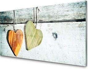 Obraz na akrylátovom skle Srdce drevo umenie