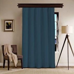 Tmavomodrý záves Curtain Kesso, 140 × 260 cm