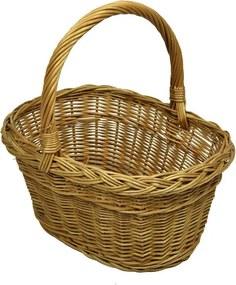 Vingo Hranatý proutěný košík na nákup Rozměry (cm): 41x35, v. 40