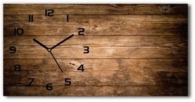 Sklenené hodiny na stenu tiché Drevené pozadie pl_zsp_60x30_f_121712969