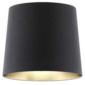 RENDL R11469 CONNY tienidlo na lampu, stolné/stojanové tienidlá Pollycotton čierna/zlatá fólia