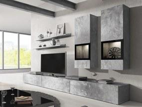 Obývacia stena Barly Typ 10 (svetlý betón)