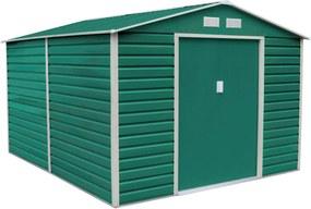 G21 Záhradný domček GAH 1085 - 340 x 319 cm, zelený 63900578