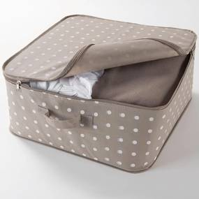 Béžový box na uloženie oblečenia Compactor Dots, 46 × 20,5 cm