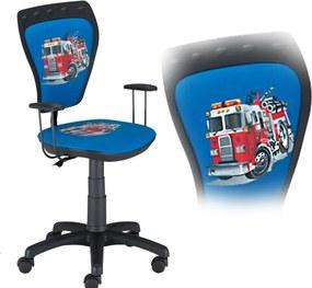 Cartoon stolička k písaciemu stolu - požiarnické auto