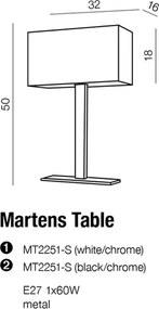 Stolové svietidlo AZZARDO MARTENS table black MT2251-S BK