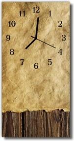Nástenné hodiny vertikálne  Retro hnedý papier