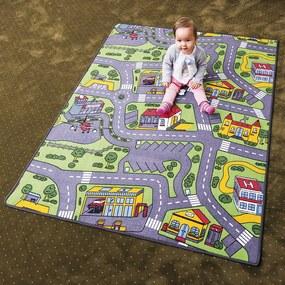 Vopi Detský koberec City life vícefarebný, 80 x 120 cm