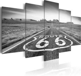 Obraz - Route 66 - black and white 200x100