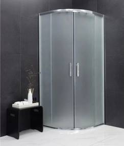 MEXEN RIO - Štvrťkruhový sprchovací kút 80x80 cm, matná, 863-080-080-01-30