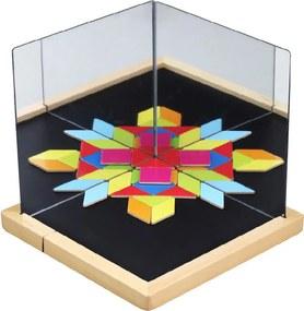 Teddies Magnetická tabuľka so zrkadlami