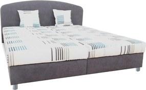 Manželská posteľ, sivá/vzor, 180x200, MADIA