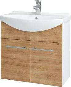 Dřevojas - Koupelnová skříň TAKE IT SZD2 65 - N01 Bílá lesk / Úchytka T02 / D09 Arlington (151997B)