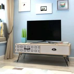 vidaXL Stolík na televízor, 100x40x35 cm, hnedý