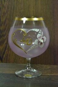 Výročný pohár na 40. narodeniny BRANDY - ružový