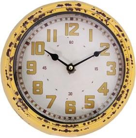 Nástenné hodiny Pendule, žlté
