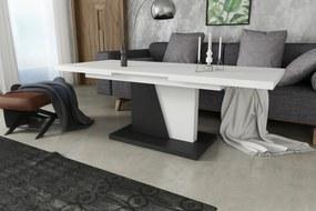 Mazzoni NOIR biely čierny, rozkladacia, konferenčný stôl, stolík, čiernobiely