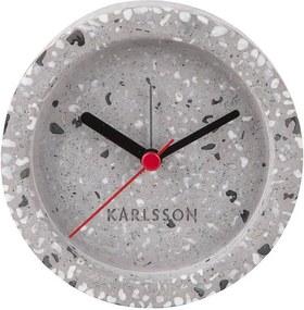 KARLSSON Šedý kameninový budík Tom Tarazzo 2. akosť