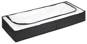 Čierny úložný box pod posteľ Wenko, 105 × 45 cm