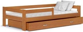 Detská posteľ HUGO+matrac, 80x160, jelša