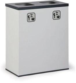 Kôš na triedený odpad 2x 50 L s vnútornou nádobou