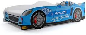 Posteľ Auto - 160x80cm - POLÍCIA - Modrá