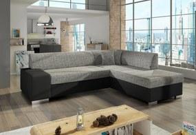 Expedo Rozkladacia sedacia súprava CHERRY, 278x73x216 cm, berlin 01/soft 011 black, pravá