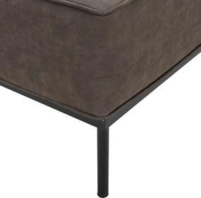 [en.casa]® Pohovka / sedacia súprava - kreslo - koženka - tmavo hnedé
