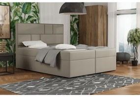 Dizajnová posteľ s úložným priestorom 120x200 MELINDA - hnedá 2