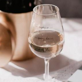 Bella Rose Pohár na víno Neptej se!