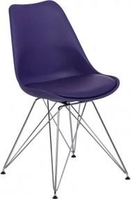 NORDIC METAL stolička Fialová
