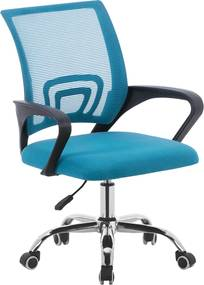 Kancelárska stolička, tyrkysová/čierna/chróm, DEX 2 NEW