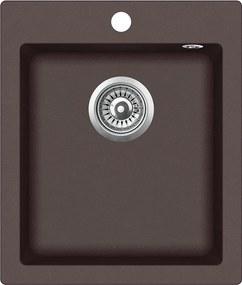 Granitový kuchynský drez - Aquastone QUADRA 20 hnedá