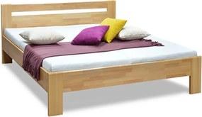 DREVONA Manželská posteľ z masívu buk 180x200 MATE