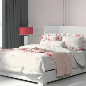 Kvalitex Bavlnené obliečky Tanea ružová, 200 x 200 cm, 2 ks 70 x 90 cm