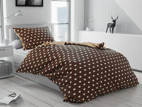 Bavlnené obliečky Colam hnedé