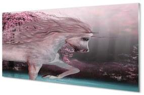 Nástenný panel Unicorn stromy jazero 120x60cm