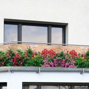 Balkónová zástena KVETY