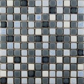 Keramická mozaika Premium Mosaic šedá 30x30 cm lesk MOSS23MIX2