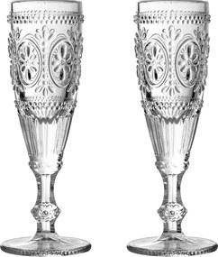 Sada 2 pohárov na šampanské Premier Housewares Fleur, 170 ml