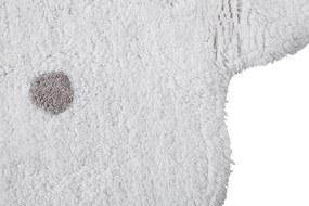 Lorena Canals koberce Ručně tkaný kusový koberec Little Biscuit White - 140x140 kytka cm
