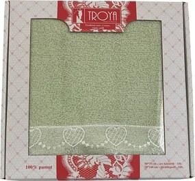 HOD Darčekové balenie uterák / osuška froté Deluxe zelená