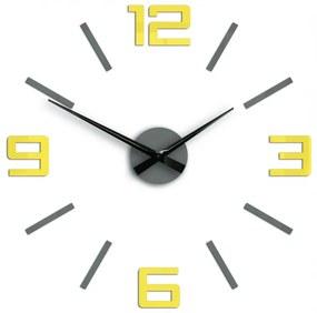 Mazur 3D nalepovací hodiny Reden šedo-žluté