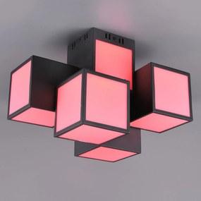 Trio WiZ Oscar stropné LED svietidlo 45x30 čierne