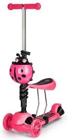Eco Toys kolobežka so sedadlom Lienka ružová